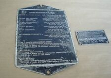 LANCIA FLAVIA INIEZIONE TYPE ENGINE CHASSIS NUMBER PLAQUES METAL ORIGINAL ID