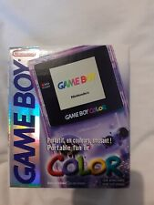 RARE Nintendo Gameboy Color (Atomic Purple) Complete in Box - Mint Condition