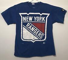 vtg Vintage 90s NHL Hockey NYR New York Rangers STARTER T Shirt Large