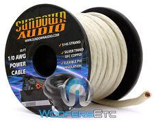 SUNDOWN AUDIO SA-1/0-OFC GA SILVER 100% COPPER WIRE 50 FEET AMPLIFIER CABLE CORD