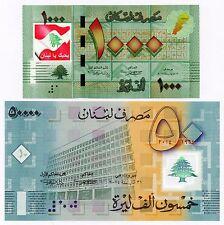50000 Livres 2014 Polymer & 1000 Livres COLORIZED >> I LOVE LEBANON <<