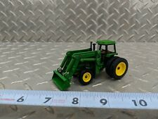 1/64 CUSTOM green color 4955 WITH DUALS FWA LOADER ERTL FARM TOY YELLOW NICE!