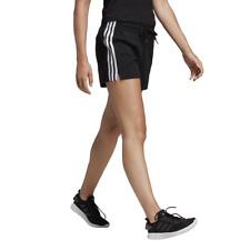 Adidas Mujer Pantalones Cortos Atletismo Entrenamiento Essentials 3 Rayas Negro