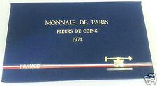 MONNAIE DE PARIS COFFRET FDC FLEUR DE COIN 1974