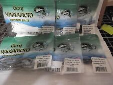 "Lot Of 6 pks of Gary Yamamoto 4"" Curly Tail Worm 6 different colors"
