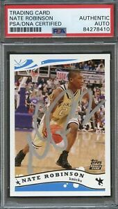 2005 Topps #241 Nate Robinson Signed Rookie Card AUTO PSA Slabbed Knicks