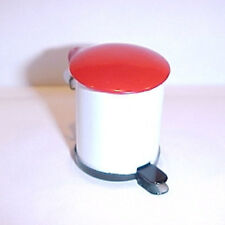 Dollhouse Miniature Flip Top Foot Pedal Trash Can 1:12 Scale