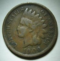 1906 Indian Head Cent in Average Circulated Condition    DUTCH AUCTION