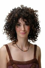 Perücke Damenperücke gelockt voluminös Korkenzieherlocken Braun Mix Karibik Afro