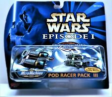 Star Wars Micro Machines Episode I Pod Racer Pack III Galoob/Tomy Mint Condition