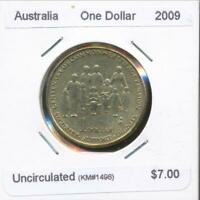 Australia, 2009 One Dollar, $1, Elizabeth II (Aged Pension) - Uncirculated