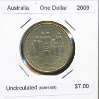 Australia, 2009 One Dollar, $1, Elizabeth II (Aged Pension) - Uncirculated