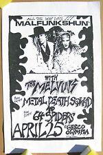 MALFUNKSHUN Gesco OLYMPIA 1986 CONCERT POSTER Mother Love Bone MELVINS Glam