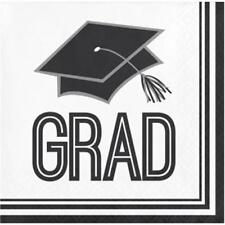 Graduation School Spirit White Beverage Napkins 36 per Pack