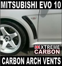 Mitsubishi Evo EVOLUTION 10 V Style Carbon Front Arch Vents EVO X Wing Ducts
