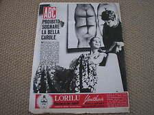 CAROLE GABY ANDRE PLAY ITALY FILM COVER RIVISTA ABC 1969 ITALIAN MAG