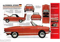 NSU WANKEL SPIDER SPEC SHEET / Brochure / Prospekt: 1965,1966,1967,.......