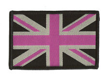 Patche écusson Fancy Union Jack Royaume Uni UK coloré transfert Patch