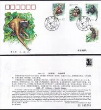 CHINA 2002-27 Gibbons Monkey 长臂猿 stamp FDC