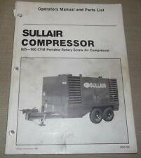 Sullair 825 900 Cfm Air Compressor Parts Operation Maintenance Manual