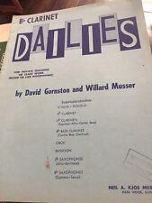 Clarinete Bb diarios Libro-David gornston y Willard Musser