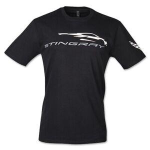 C8 Corvette Stingray Gesture Black Cotton T-Shirt - M-2XL