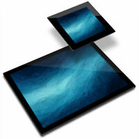 Glass Placemat  & Coaster - Abstract Watercolour Sea Blue Teal Water  #44021