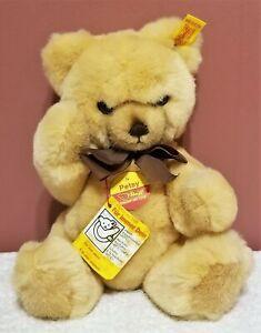 "Steiff Teddy Petsy, Blonde, 0233/28, Made 1984 - 1990, 11"" tall, Sooo Soft, TA"
