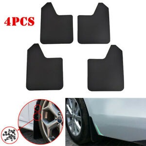 4Pcs/Set Car Front+Rear Fender Mud Flaps Mudguards Splash Guards For Pickup Van