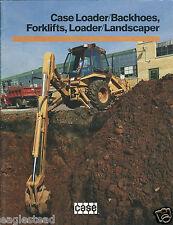 Equipment Brochure - Case - Loader Backhoe Forklift Product Overview  (E2978)