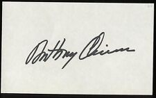 Anthony Quinn Signed Index Card Signature Autographed AUTO