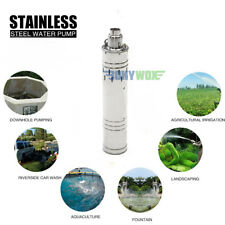 DC 48V Solar Deep Well Screw Submersible Water Pump 700W,Stainless Steel,3.5''