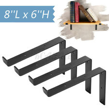 4Pack 8''X6'' Heavy Duty Shelf Brackets Mental  Iron Cast Wall Mounted Holder