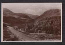 Perthshire. The Small Glen. Road. Mountains. J. B. White. RP Photo postcard zc12
