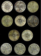 (11) Uk Great Britain Silver Florins (two shillings) (1914-1933) George V