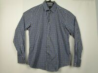 Mens Hugo Boss XL Slim Fit Blue Plaid Long Sleeve Button Front Casual Shirt