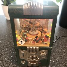 Vtg Enesco The Grabber Musical Music Box Claw Machine Entertainer Lights No Cord