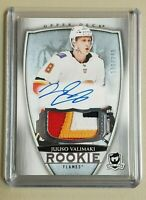 JUUSO VALIMAKI 2018-19 UD THE CUP HOCKEY 4-COLOR PATCH ROOKIE AUTOGRAPH #198/249