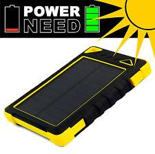 Cargador Solar Externa Power Bank 29600mWh panel solar 1W Li-Po LED - PowerNeed
