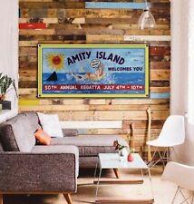 6ft Jaws Amity Island billboard Sign Banner art movie Graffiti beach pool bar