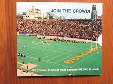 1972  Pittsburgh  Panthers Football Ticket Ticket Brochure (Unopened and Unused)