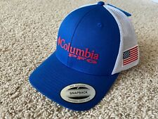 NEW Columbia PFG USA Flag Mesh Snapback Cap