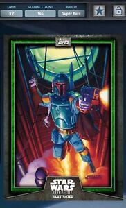 Topps Star Wars Card Trader Boba Fett CTI 2015 Green