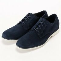 TIMBERLAND MENS STOMBUCK LITE MEN'S NAVY BLUE SUEDE OXFORD DRESS SHOES 9021B