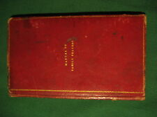 A Manual of Family Prayers Blomfield New-York Protestant Episcopal Press 1830