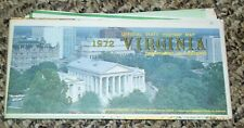 *VINTAGE* 1972 VIRGINIA OFFICIAL STATE  HIGHWAY MAP