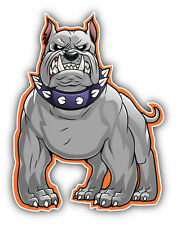 Angry Bulldog Car Bumper Sticker Decal 4'' x 5''