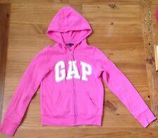 GAP PINK Sweatshirt Hoodie White Letters ZIP up EUC Size XL 12
