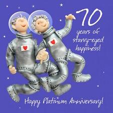 New holy mackerel happy 70TH/platine anniversaire carte de vœux 1ST libre p&p