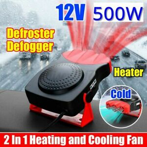 500W 12V Car Portable Fast 30s Heating Hot Cooling Heater Fan Defroster Defogger
